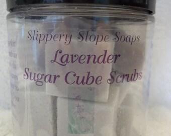 Lavender Sugar Cube Scrubs - 6 oz.