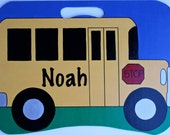 Personalized hand painted lapboard - School Bus