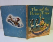 vintage 1944 Through the Picture Frame, Walt Disney's 1st Little Library Golden Book, Rare 1st Printing, full color. Hard to find.