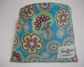 Reusable Snack Bag - Teal Floral - Free Shipping