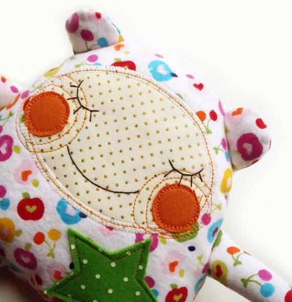 sleeping Manka-bear in pajamas
