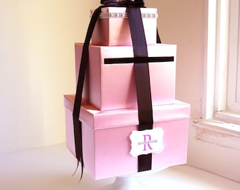 Momey Holder Card Box Wedding Gift Card Box Wishing Well Money Holder Customize Card Box Wishing well