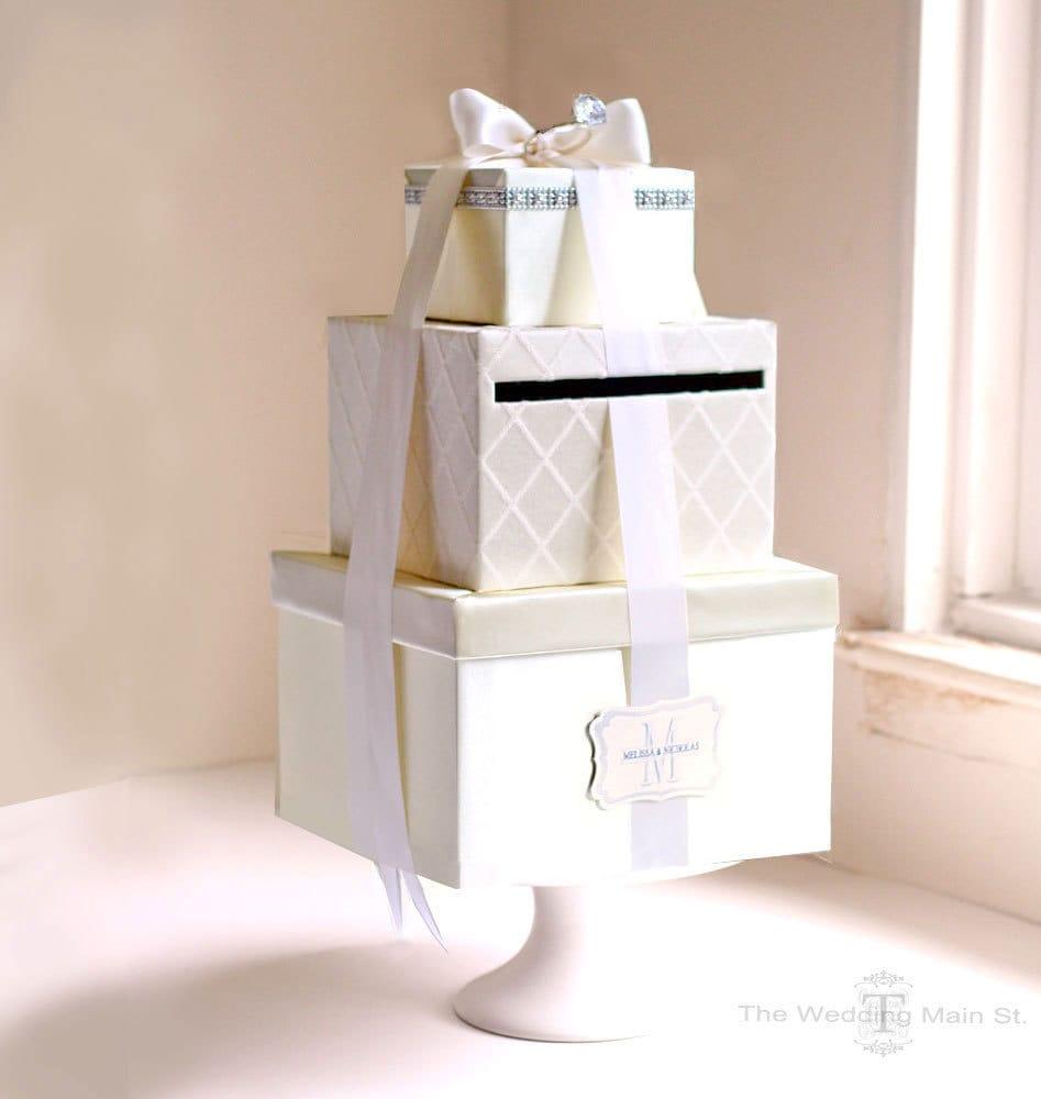 Wedding Card Holder Ideas: Wedding Money Box: Custom Card Box Money Holder For Wedding