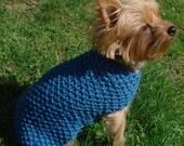 Holy Moly Organic Cotton Summer Dog Sweater in Sea BLUE XXS - XL