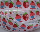 7/8 Burst Of Strawberry Mtmg Made To Match Gymboree GROSGRAIN RIBBON 5 Yards Printed By the Yard Hair Bows