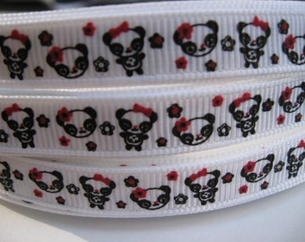 3/8 MTMG HOLIDAY PANDA Gymboree Line Grosgrain Ribbon Craft Hair Bows supplies scrapbooking