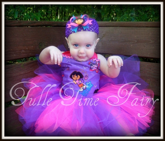 Custom Purple Dora corset birthday TuTu dress Any Size 12 months up to a size 5