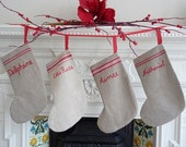 Personalized Christmas Stocking - XLarge from Vintage Linen