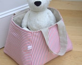 Fabric Storage Basket - large and reversible