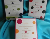 Fun With Polka Dots Wedding or Bridal Shower Invitation In Your Colors