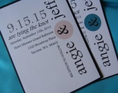 Modern Dot Wedding Collection including Invite, RSVP, Insert Card and Tag