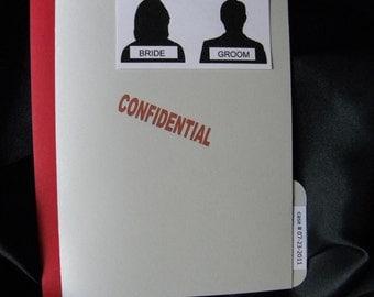 Police File Wedding Invitation Suite - Fun and Unique