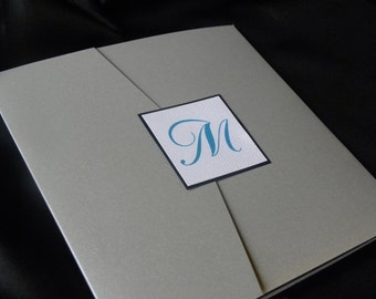 Formal Square Invitation Suite with Insert Cards, RSVP, and All Mailing Labels