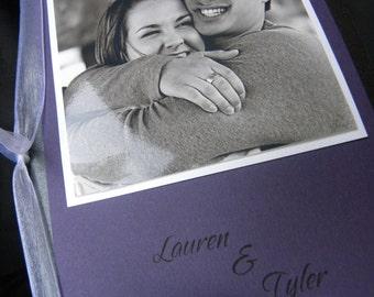 Folded Photo Wedding Invitation 5x7 with Double Envelopes