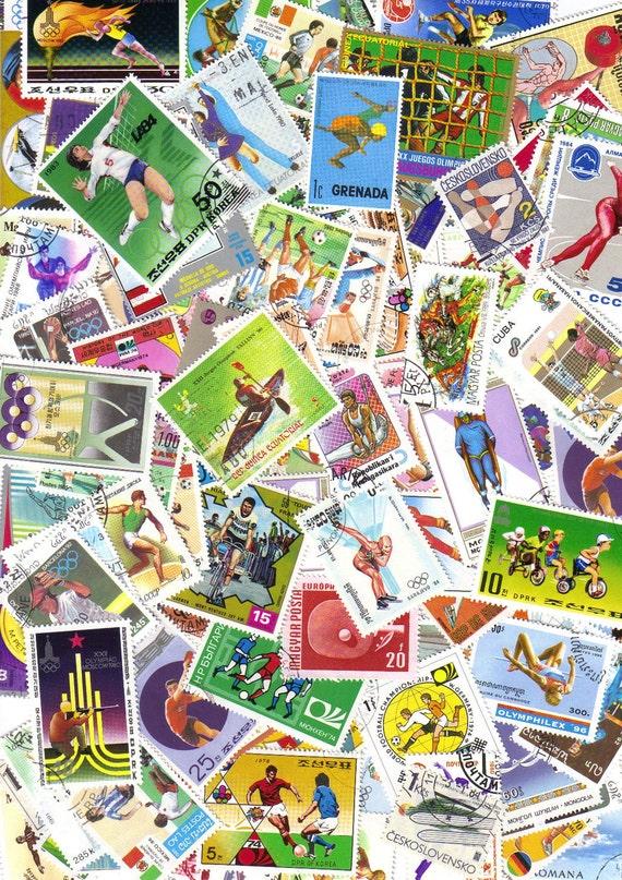 50 Sport - Colorful vintage postage stamps