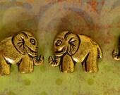Elephant bead- antique finsh- Gold