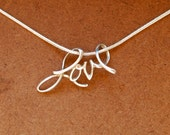 RESERVED FOR langsoh ONLY - Sterling silver love pendant on 18 inch sterling silver necklace