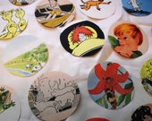 """50 2.5"""" Circles with Pictures from Vintage Childrens Books"""