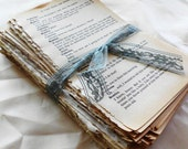SALE Over 150 Pages of Beautiful Aged Patina'd Vintage Book Pages. Novel Pack