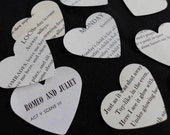 """For The LOVE Of POETRY    200  Huge 2""""  Hearts from Vintage Books of Poetry"""