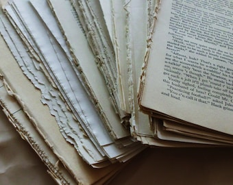 SALE Huge Ephemera Pack of Book Pages. Over 150 Pages. Crafting 8.5x5.5. Perfect for Wedding Crafts, Petal Cups, Folding Arts and More!