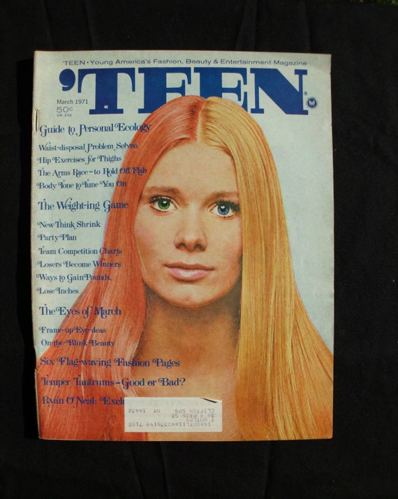 Vintage Teen Magazine from March 1971