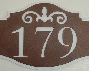 Address, Scroll Address sign, Wall plaque, Street address, House number, Street number, Custom Font, Outdoor plaque, Name Plaque, Wall sign