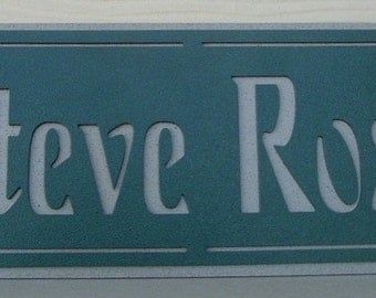 Name Plaque, Address plaque, Street number, Name Plate, House address, Home address, Metal art, Door sign, Outdoor sign, Wall decor, custom.