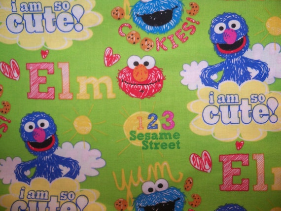 Elmo - sesame street - Kindermat Cover - personalization available - blanket - pillow