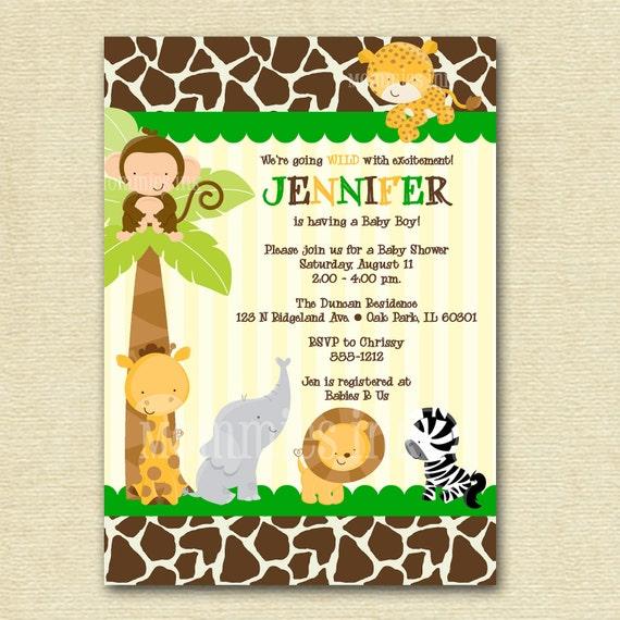 Invitaciones para baby shower safari para imprimir - Imagui