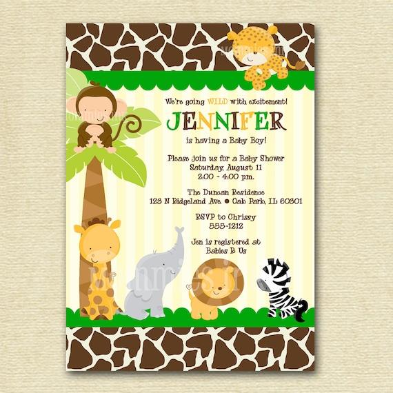 Safari Baby Shower Invitation: Safari Baby Shower Invitation Baby Shower Invitation By