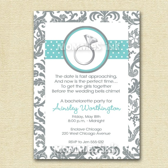 Bachelorette Invites Etsy – Engagement Party Invitations Etsy