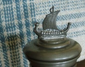 Vintage Antique Pewter 2 Pc Cup Handmade Norway Pewter 30