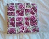 Pink Roses Mosaic Trivet