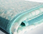 Sea Foam Patchwork Baby Blanket - Custom Order
