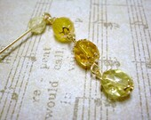 Czech Glass Beads Dangle Hijab pin, Scarf pin, shawl pin, Yellow, Ramadan Eid Gift for her, Hat Pin, Stick Pin