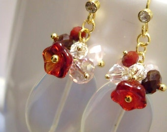 READY to SHIP, Opal earrings, Le Petit Jardin Opalite Earrings, Bridesmaids earrings, birthday gift, Gemstone, Birthday gift, Thank you gift