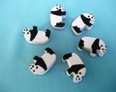 6 Cute Panda Paper Clips