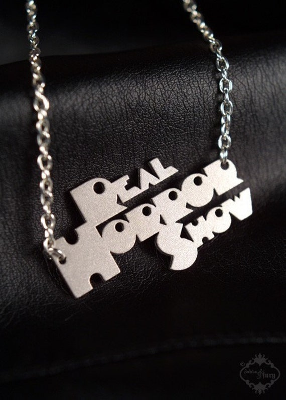 Real Horror Show Clockwork Orange inspired necklace in silver stainless steel