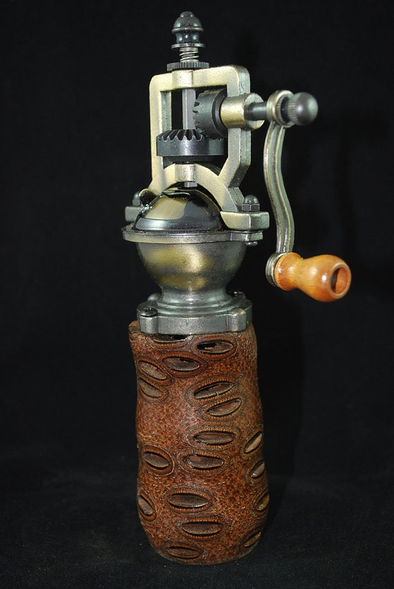 Handmade Vintage Style Wooden Pepper Mill, Banksia Pod, VPM-200