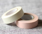 Kisara Washi Tape Set: Flower, Grass & Tree Pink and White Japanese Masking Tapes