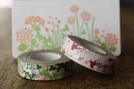 Masking Tape Pair and Letterpressed Card Set A