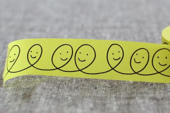 mt x mina perhonen limited edition washi masking tape - smile- happy face
