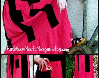 CUSTOM Skirt, Watermelon Summer Maxi-Skirt