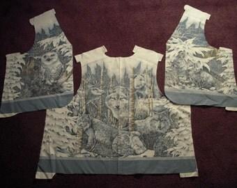 Snowy Woods Vest Adult DIY