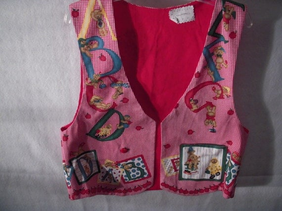 A B C Back to School Adult Vest