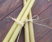 Beeswax Tapers - 2 Pair of Round candles