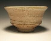 TEABOWL, wood fired salt glazed stoneware