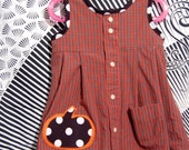 Pumpkin N Plaid - 3T Toddler Dress