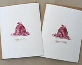 Figgy Pudding Christmas Gocco Card